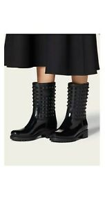 Valentino Garavani Women's 'Rockstud' Black Rain Boots; 40EU/10US; New