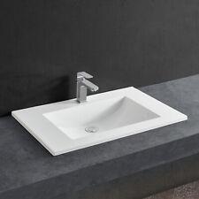 [neu.haus] Waschbecken weiß 60x46cm Einbauwaschbecken Einsatz Handwaschbecken