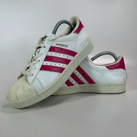 Adidas Superstar Women's Trainers White & Pink Size UK 7 - VGC - FAST POSTAGE