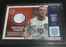 2005 TOPPS MICHAEL OWEN ENGLAND Team GAME-WORN SHIRT Jersey 2 Color LIVERPOOL