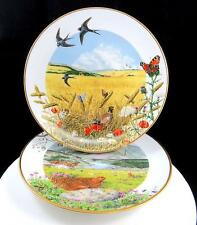 """FRANKLIN MINT P BARRETT 2 COUNTRY YEAR AUGUST SEPTEMBER 9.25"""" COLLECTORS PLATES"""