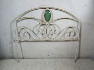 11 Sections Vintage/Antique Round Steel Garden Landscape Fence 19' Green Glass