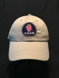 Saab XWD Hats Khaki with Adjustable Valcrow Back, New/Never Worn