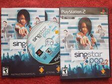 SingStar Pop Vol 2 Original Black Label PS2 ntsc región de Estados Unidos/Canadá
