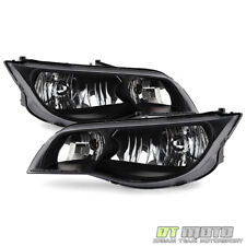 Black 2003-2007 Saturn Ion 2Dr Coupe Headlights Headlamps Replacement Left+Right (Fits: Saturn Ion)