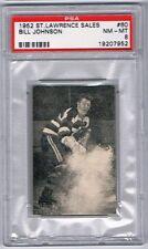 1952 St. Lawrence Sales Hockey Card Ottawa Senators Bill Johnson Graded PSA 8