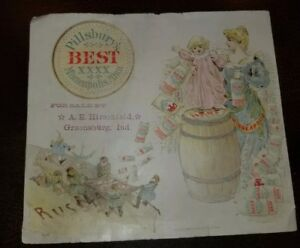 Rare 1891-1892 Russian Famine Pillsbury Flour Trade Card