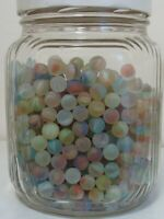 35 Marbles Sea Style Beach Glass Pee-Wee Multicolor Cats Eye Collector/Player