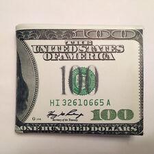 Billete Cartera Plegable De 100 Titular de Tarjeta Bolso cien $Bolsillo para Hombre American