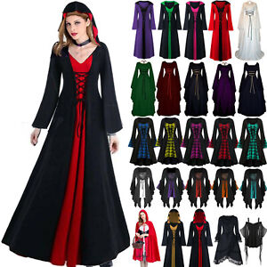 Women's Cosplay Witch Costume Corset Dresses Robe Renaissance Party Fancy Dress