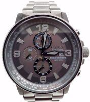 2ab93cf6ea7 Citizen NightHawk EcoDrive Chronograph Black IP Mens Watch CA0295-58E  BROKEN!