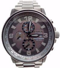 Citizen NightHawk EcoDrive Chronograph Black IP Mens Watch CA0295-58E BROKEN!!!