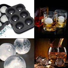 6 Round Ice Ball Maker Sphere Tray Silicone Mold Cube for Cocktails Whiskey