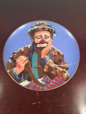 Clown The Original Emmett Kelly Circus Collection Plate Sad Clown 1990 Japan