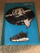 Vintage 1997 NIKE AIR MUCH UPTEMPO Basketball Shoes Poster Print Ad 1990s RARE