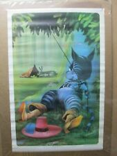 Puss in Boots vintage Poster 1970's cat kitty in#G4633