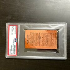 Rex Barney Signed Original No Hitter Ticket 9-9-1948 New York Giants PSA DNA