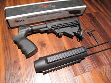 AIMSPORTS Mossberg 500 6 position Stock and Forend TRI RAIL Picatinny Tactical