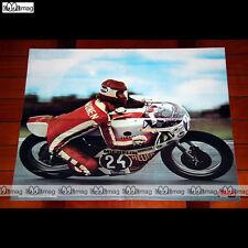 PENTTI KORHONEN sur sa YAMAHA N°24 en 1974 - Poster Pilote MOTO #PM864
