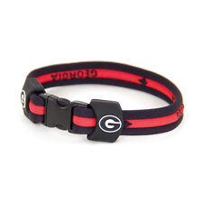 Georgia Bulldogs 'Dawgs' Titanium Sports Bracelet - 7 Inch - Free Shipping
