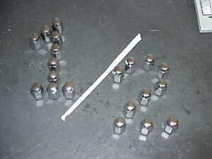 NOS MoPar 1/2 IN Chrome LUG NUT Set of 20 1967 1968 1969 1970 1971 1972 1973-up