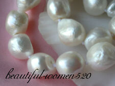 """z1840 Huge  24"""" 17mm baroque white freshwater pearl necklace"""