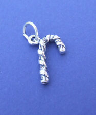 CANDY CANE CHRISTMAS 3D CHARM 925 STERLING SILVER