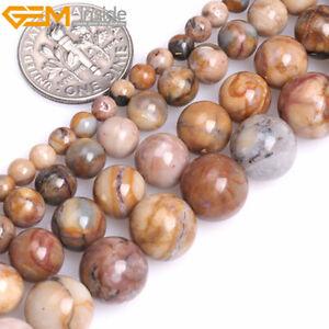 """Brown Gemstone Venus Jasper Natural  Round Beads For Jewelry Making 15"""""""