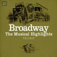 BROADWAY-MUSICAL HIGHLIGHTS 3 CD NEUF ROCKY HORROR SHOW/LES MISERABLES/CATS/+