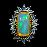 Opal Ring Silver 925 Sterling Super Top AAA 8ct+ Size 8.5 /R131392