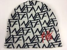 Neff Logo Beanie Hat White Black Headwear