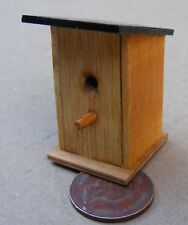 1:12 Scale Dolls House Plain Wooden Birds Garden Nesting Box With A Sloping Top