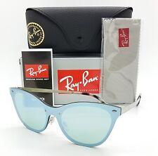 NEW Rayban Blaze Cat Eye sunglasses RB3580N 042/30 43mm Dark Green Silver Mirror