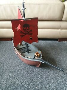 Vintage 1991 Playmobil Pirate Ship - Red Corsair - Incomplete - 3174