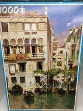 Venice Jigsaw 1000 Piece Italy City Canals Gondola King 1988 See Description