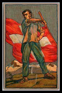 GP GOLDPATH: SWITZERLAND POSTAL CARD 1912 _CV729_P09