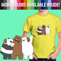 We Bare Bears Panda Grizzly Ice Bear Brother Love Toddler Kids Tee Youth T-Shirt