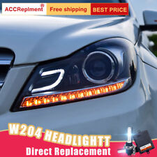 For Benz C-Class W204 Headlights assembly Bi-xenon Lens Projector LED DRL 12-14