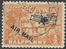 New Guinea 1931  ½d NATIVE VILLAGE, AIR MAIL/Aeroplane overprint USED SG 137