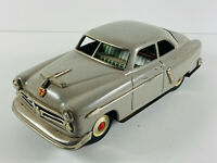 1952 Kosuge Marusan Grey Ford Sedan Tin Friction Car NICE japan