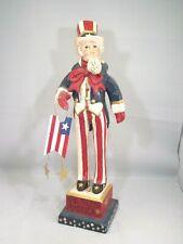 "House of Hatten Uncle Sam God Bless America Figure 18"""