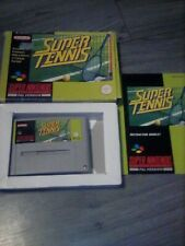 Super Tennis Super Nintendo SNES Boxed With Manual PAL