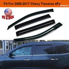 For 2009-2017 Chevrolet Traverse Window Visors Sun Rain Wind Guards Vent Shade