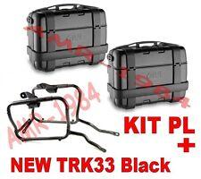 KIT 2 VALIGIE TRK33 BLACK + TELAIO KAWASAKI VERSYS 650 06-09 + PL447 + PLX447KIT