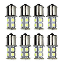 8Pack 6000K White 1156 BA15S RV Trailer Interior12V LED Lights Bulbs 13 SMD 5050