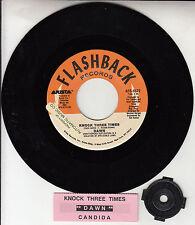 "DAWN  Knock Three Times & Candida 7"" 45 rpm vinyl record + juke box title strip"