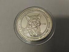 RSC Royal Silver Company Andean Cat Gato Andino 2011 1 oz .99999 Silver Round