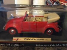 Volkswagen 1951 Red Bug Maisto1:18 Highly Detailed Diecast Car