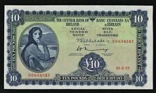 1975 THE CENTRAL BANK OF IRELAND £10 LADY LAVERY  BANKNOTE