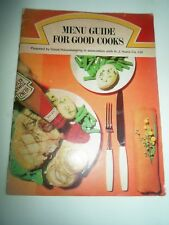 Vintage MENU GUIDE FOR GOOD COOKS In Association with Heinz + Illustrated 1969